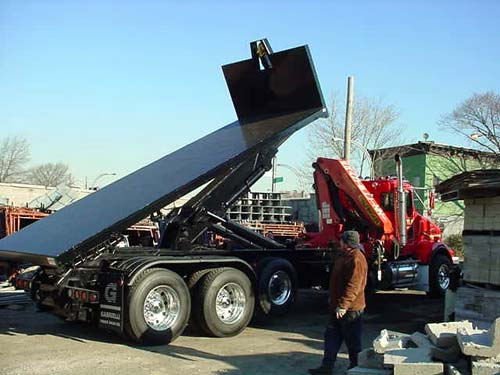 Palfinger PK17502 and PLT32 Hooklift with Custom Built Body on Kenworth T-800